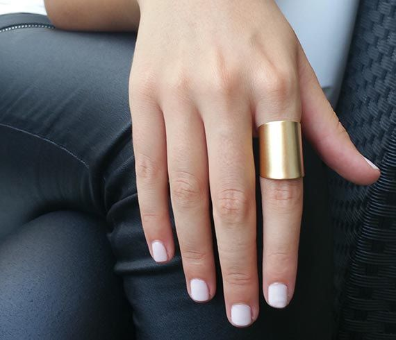 Check out this item in my Etsy shop https://www.etsy.com/il-en/listing/125364991/gold-ring-wide-band-ring-adjustable-ring