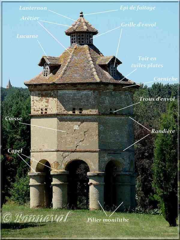 Pigeonniers - description architecture pigeonnier - On s'intéresse aux pigeonniers à Brin de Cocagne - Chambre d'hôtes écologique de charme dans le Tarn près d'Albi - Brin de Cocagne
