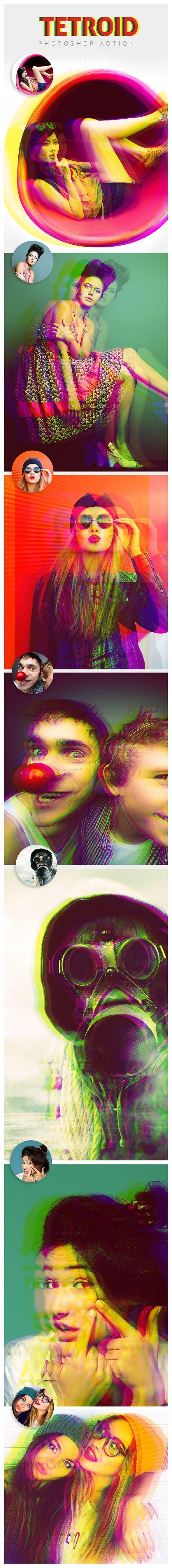 Tetroid - Photoshop Action #photoeffect. Photoshop tips. Nordic360.