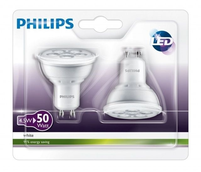 Philips Led Svetodiodna Lampa Blister 2 Br 5 W Gu10 Topla Svetlina Led Spot Philips Led Led
