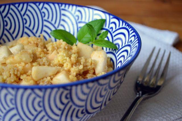 kuchenny bałagan: Kasza jaglana z jabłkami