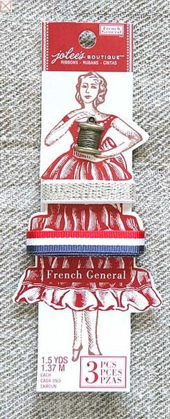 From Jolee's Boutique, the French General collection includes notions, ribbons, papers and embellishments inspired by old world France.