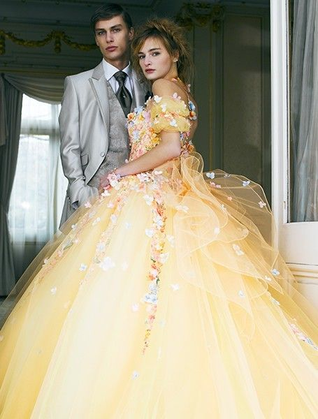 lovely dress by Yumi Katsura - yellow ver.
