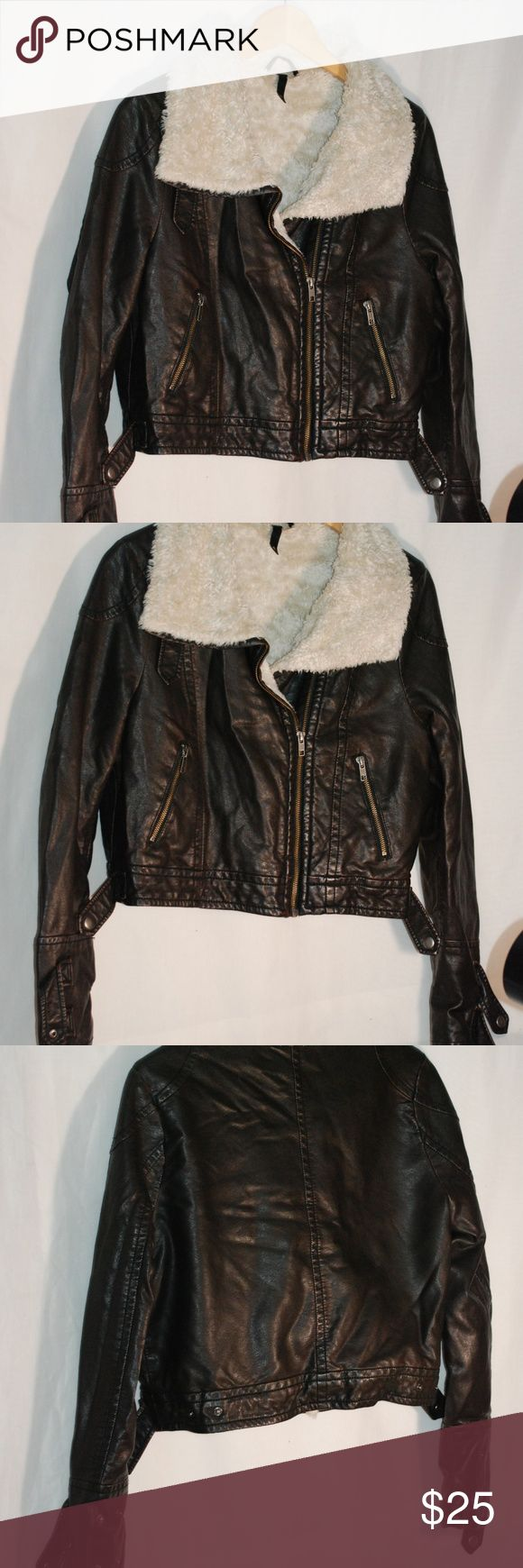 Boys Divided by H & M Faux Leather Biker Jacket Boys