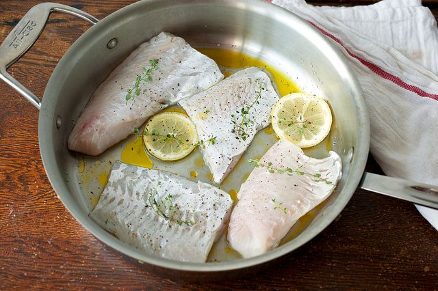 hake with olive oil, butter, and lemon by sassyradish, via Flickr