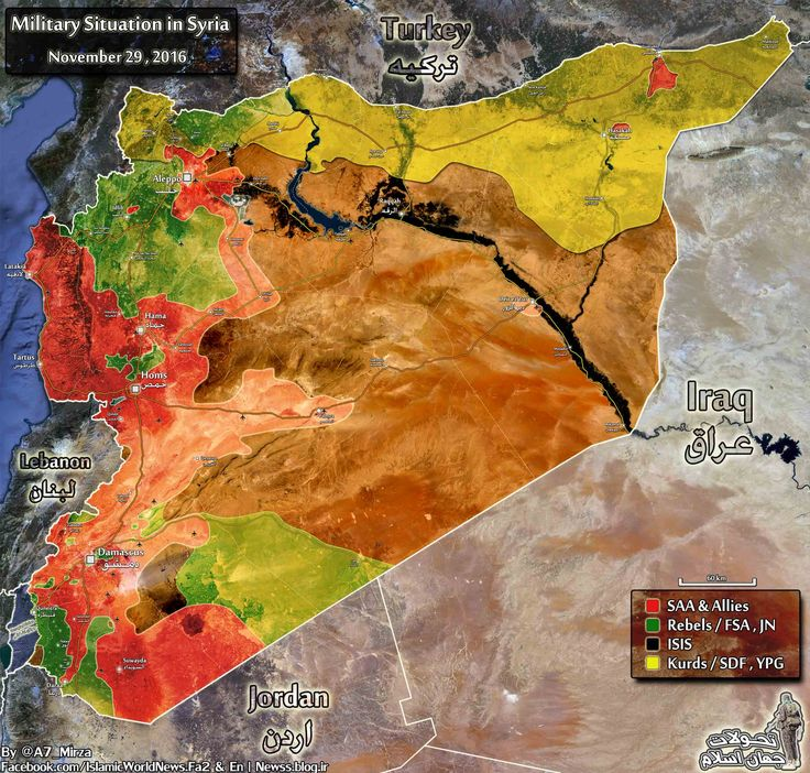 NEW MAP Military situation in Syria