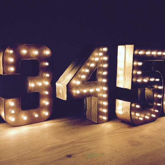 freestanding marquee letter light battery operated table numbers wedding pinterest battery operated etsy and lights