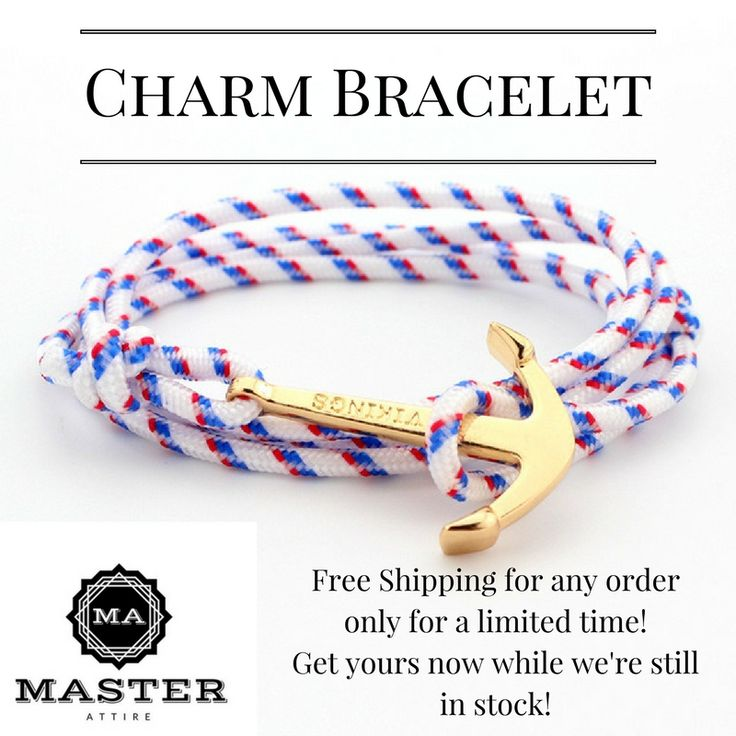 The Charm Bracelet! ($10) with FREE SHIPPING on ANY product, worldwide! Get your charm bracelet now while stocks last!  Charm and anchor your friendships, relationships, love life, and so much more. That's why the Charm Bracelet is perfect for you!