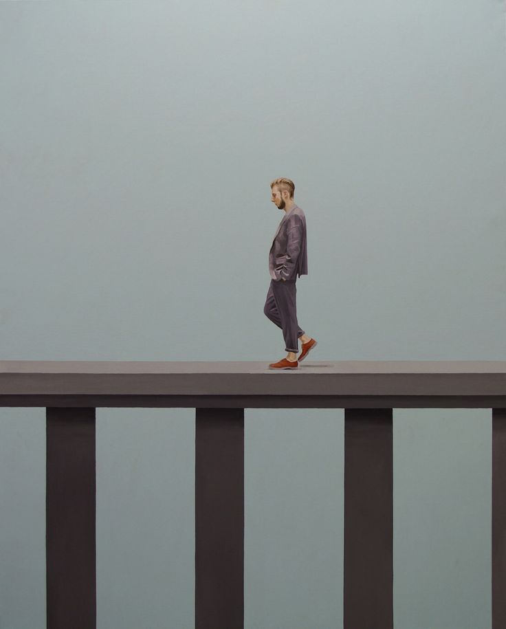 walking man , Oil on Canvas , 162.1× 130.3cm , 2011