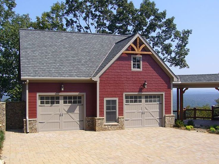 Amazing Cottage Style Garage Plans #6: 053G-0010: Craftsman-Style 2-Car Garage Apartment Plan