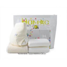 Kit d'essai couche lavable, coloris chocolat blanc Hamac | Natiloo.com | La référence Bien-être Bio Bébé