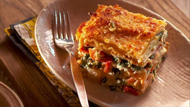 Get this all-star, easy-to-follow Fresh Vegetable Lasagna with Spinach and Zucchini recipe from Nancy Fuller