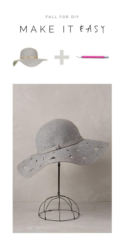 Make It Easy Floppy Hats Diy Fashion And Diy Fashion