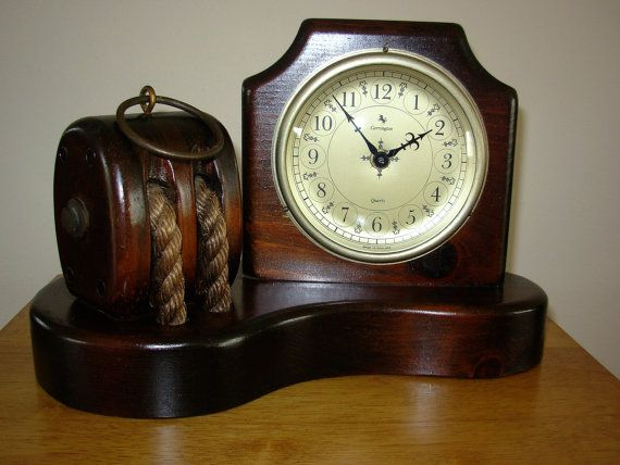 Vintage Carrington Mantel Clock With by SeaMyNauticalVintage
