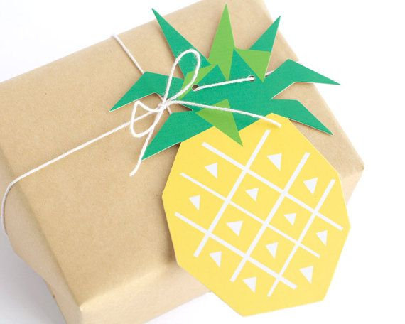Geometric Pineapple Gift Tags by The Chaos Club