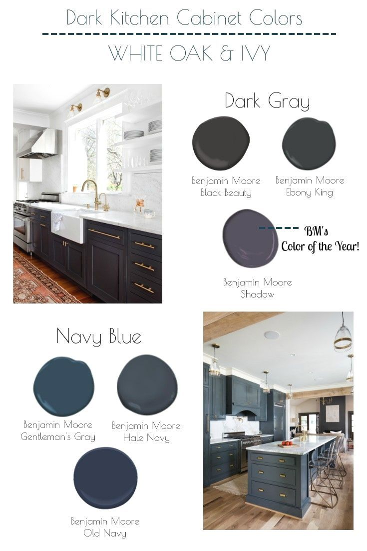 The Best Navy Blue And Dark Gray Benjamin Moore Colors For Kitchen Cabinets Grey Blue Kitchen Blue Gray Kitchen Cabinets Grey Kitchen Cabinets