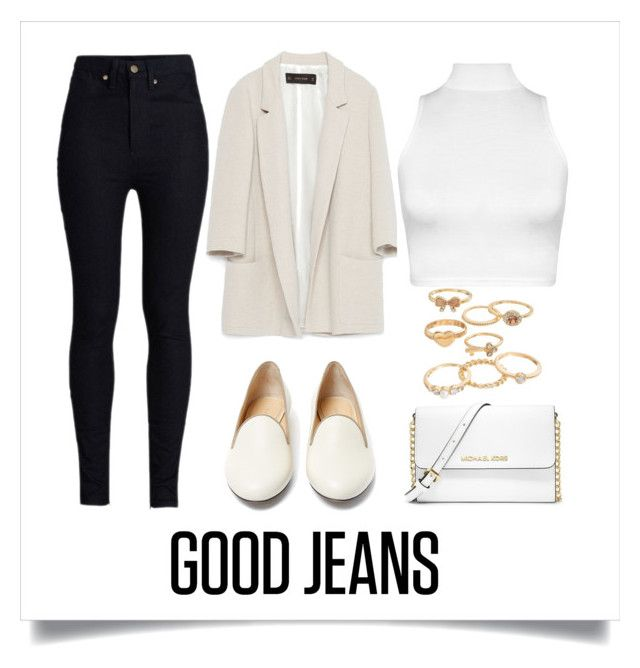 """""""Good Jeans"""" by samang ❤ liked on Polyvore featuring Rodarte, Zara, WearAll, Charlotte Olympia, MICHAEL Michael Kors and Mudd"""