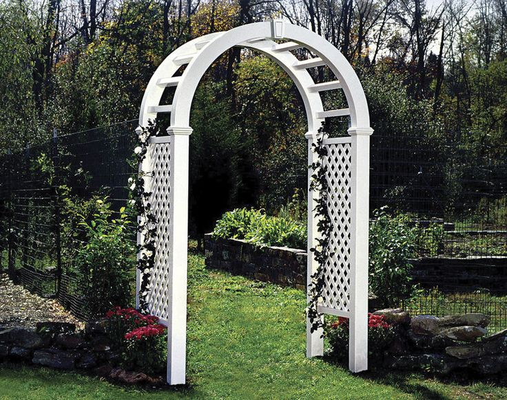 pvc arch arbor beaumont ii certain teed arbor ideas. Black Bedroom Furniture Sets. Home Design Ideas