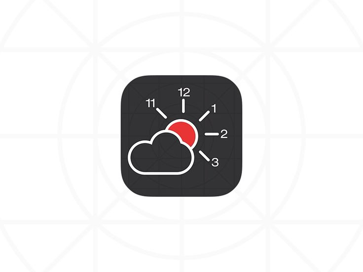 Weather and Time icon - by spovv | #ui