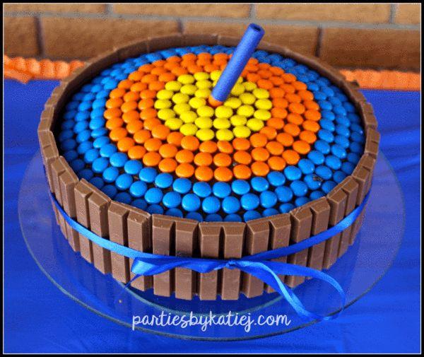 Nerf Gun Birthday Party Geburtstagstorte   – Nerf Gun Party