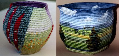 Caroline Routh Baskets  oh my sweet lord. i never even thought of this.
