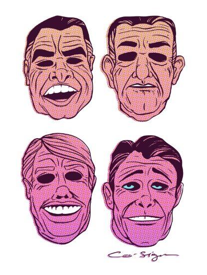 POINT BREAK SERIES - The Ex Presidents Art Print                                                                                                                                                                                 More