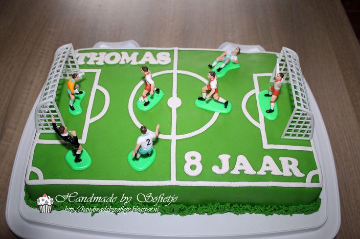 #Voetbal #taart #jongen #cake #boy #soccer #kindertaart