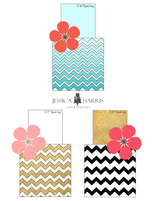 Template Tuesday - Small Chevron Cake Template (FREE!) - Jessica Harris Cake Design
