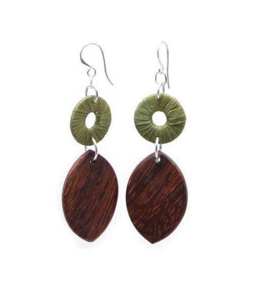 Turning Leaf Olive Green   Indigo Heart - Fair Trade Fashion A$18.50
