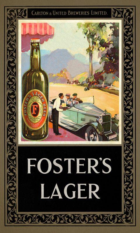Foster Lager Vintage poszter James Northfield