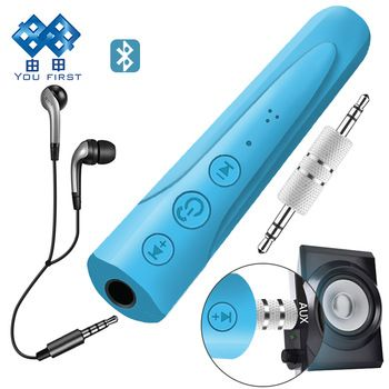 YOU FIRST 3.5mm Bluetooth Earphone Receiver Kit Handsfree Audio Music AUX Car Bluetooth Headphone Wireless With Microphone   Price: 1.80 USD