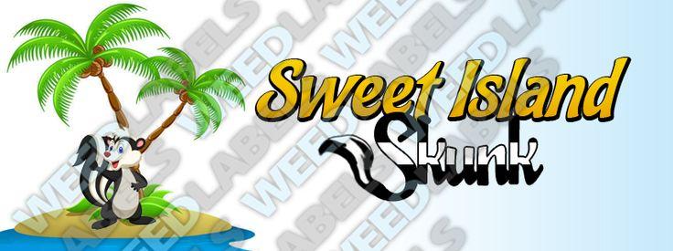"""SWEET ISLAND SKUNK"" weed label   #weedlabels #marijuana #weed #cannabis"
