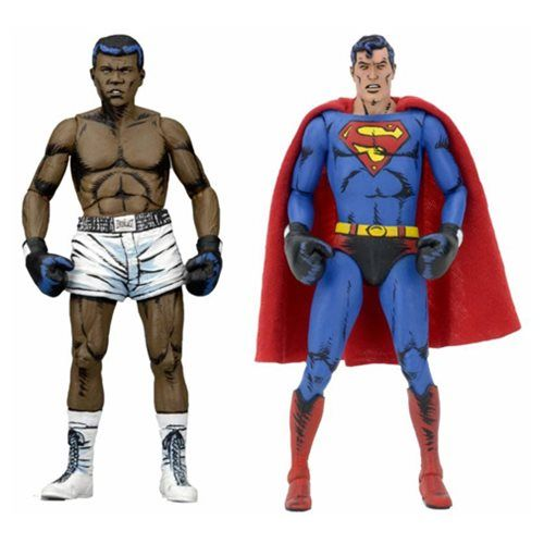 DC Comics Superman vs. Muhammad Ali Action Figure 2-Pack - NECA - Superman - Action Figures at Entertainment Earth