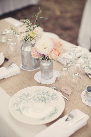 Table Toile De Jute En Chemin De Table Anne Claire Brun