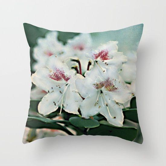 Azalea blooms Throw Pillow