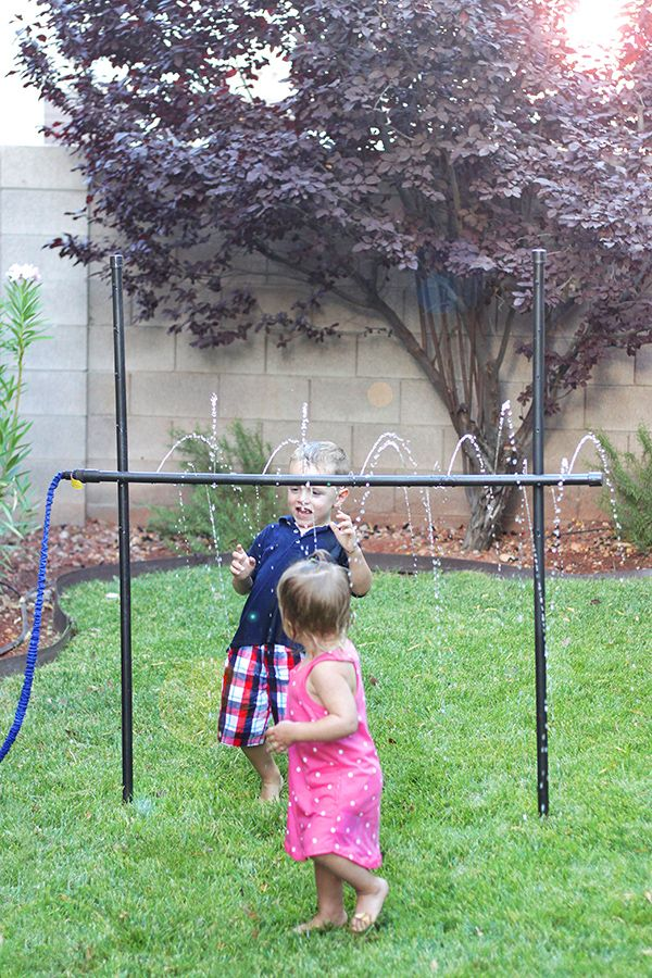 DIY Outdoor Games: Kids' Sprinkler Limbo Made from PVC Pipe