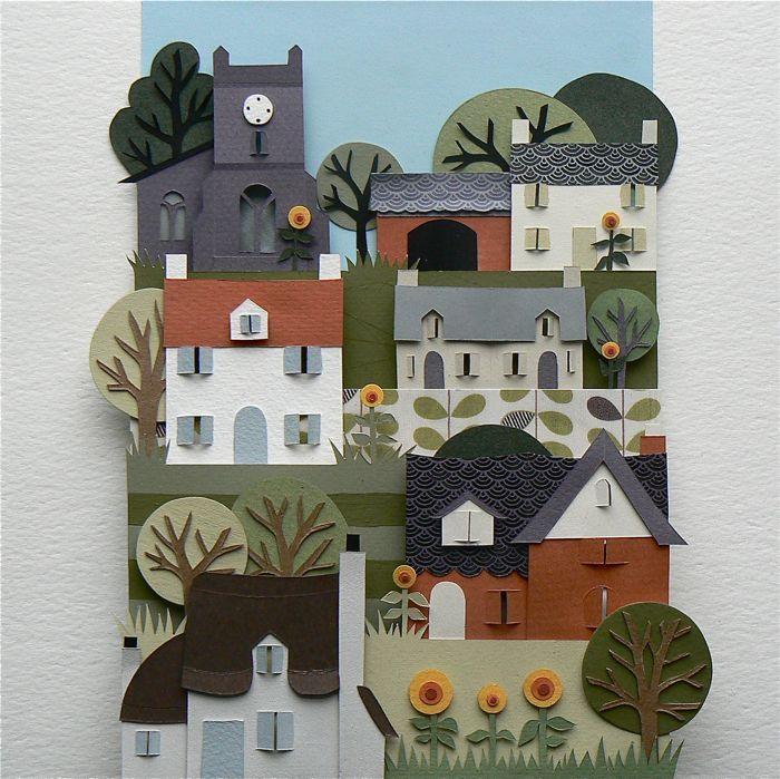 Hand cut paper art by Helen Musselwhite