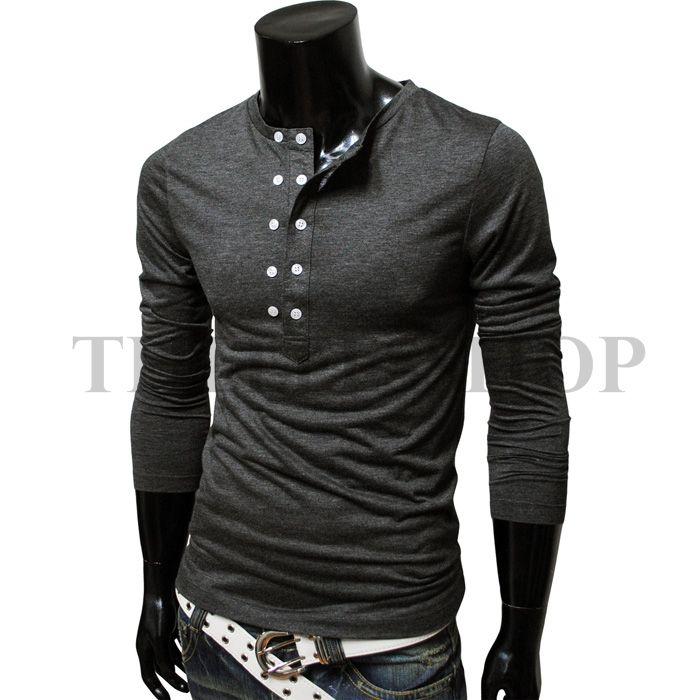 Mens Casual layered style pocket tshirt