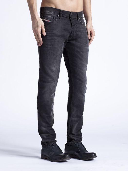 de9a71e0 perfect men DIESEL TEPPHAR 0822R BLACK Stretch Slim Carrot leg JEAN size  W29 L32