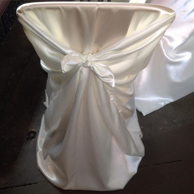 WEDDING RENTALS MADE EASY! The Universal Chair Cover In Off White Satin! Events by @estrellasdecor!  Still looking for the perfect chair cover rental for your wedding venue? We can help. Ck out these beautiful off white satin universal chair covers we used for one of our wedding events in Oxnard, CA. The bride and groom got getting married in their 60s. How AMAZING is that? It was a beautiful wedding celebration to be a part of!  What will your chair cover rentals look like on your big day?