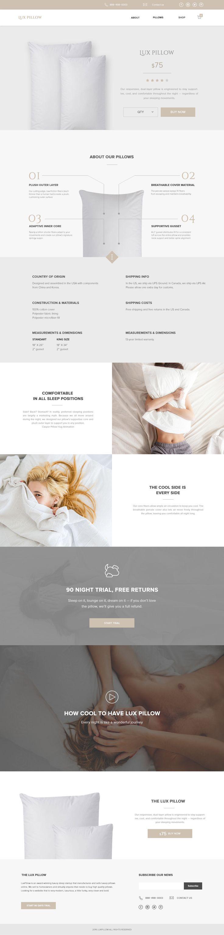Sleep pillow product