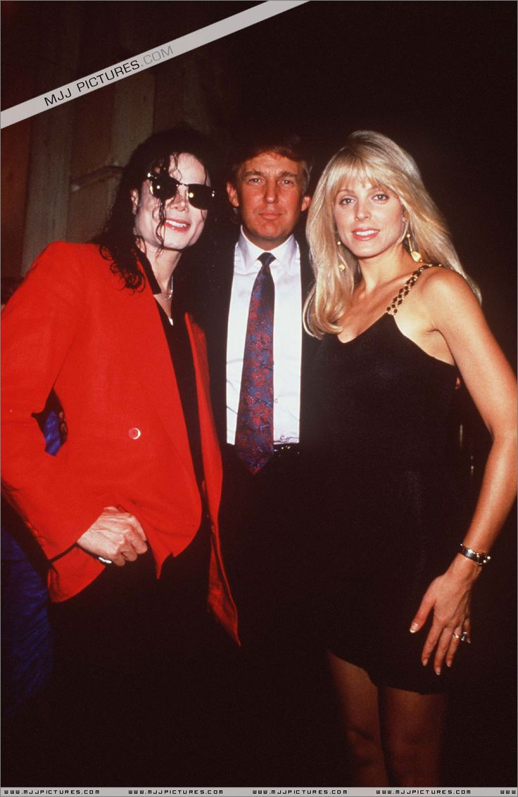 Michael Jackson and Donald Trump with then wife Marla Maples. Truthfully I like Marla and Melania.