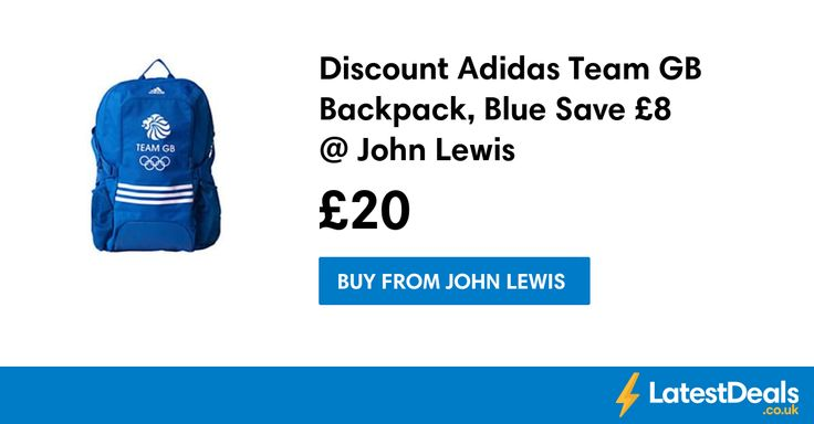 Discount Adidas Team GB Backpack, Blue Save £8 @ John Lewis, £20 at John Lewis