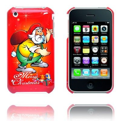 Merry Christmas (Gul) iPhone Deksel for 3G/3GS