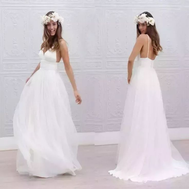 Discount 2017 Beach Summer Boho Wedding Dresses Sexy Backless Spaghetti Straps Floor Length Wedding Bridal Gowns Bohemian Formal Dresses For Wedding Brides Wedding Dresses Empire Line Wedding Dresses From Wholesalefactory, $108.95| Dhgate.Com #bohoweddingdress #backlessweddingdresses