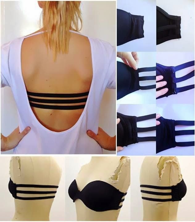 Ideas & Products: DIY 3 Strap Bra for Backless Tops and Dresses