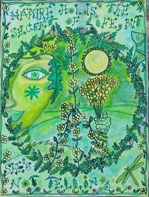 Earth Element Zendala Hippie Art Original by DawnCollinsArt, $40.00