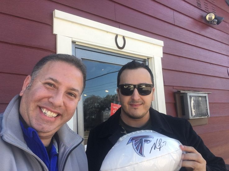 I got the ball for winning the Fantasy Football League! Autographed by Mike Vick!