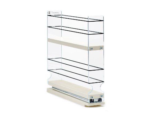 Spice rack narrow space 12 capacity drawer access for Acces vertical