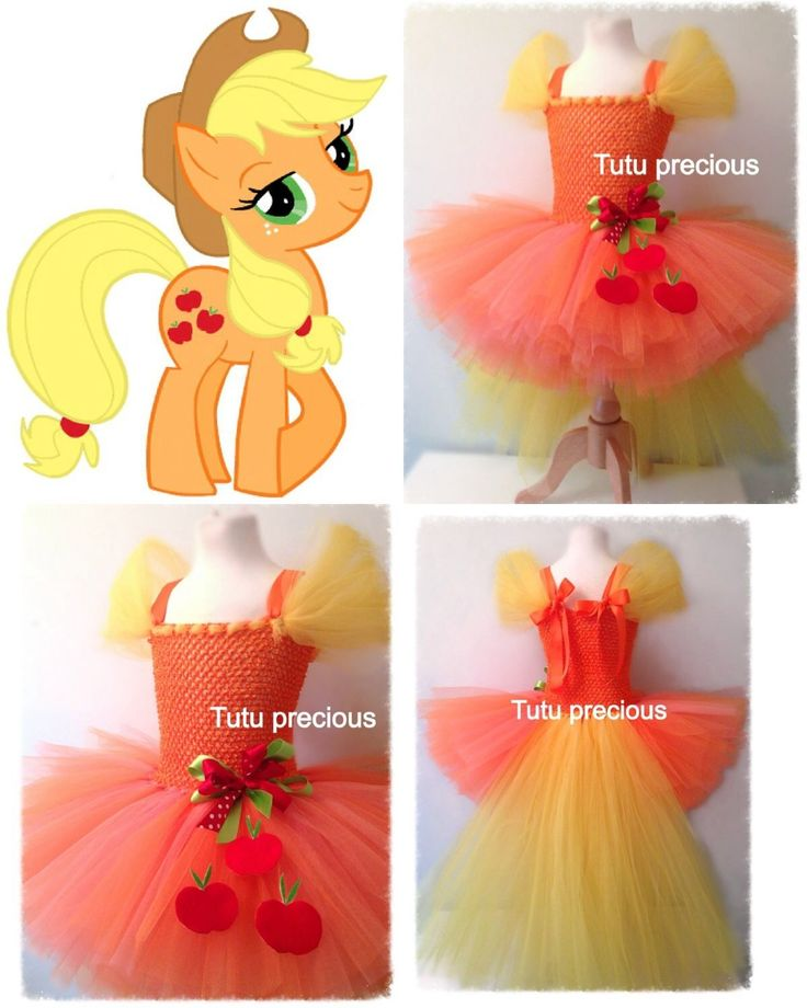 Apple jack My Little Pony Inspired tutu dress - I wanna make one for Mia for Halloween
